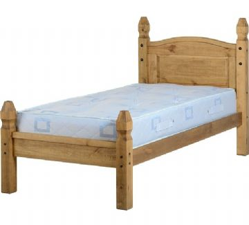 Mexican Princess Single Bedframe (3Ft) - Pine
